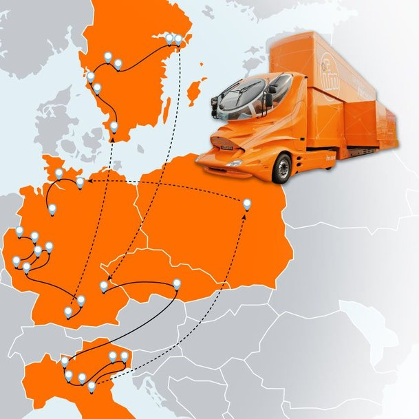 ifm roadshow – Taking the ifm truck across Europe