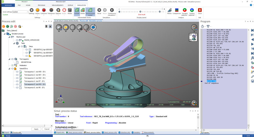 Hexagon CNC machining simulation helps manufacturers avoid notorious 5-axis singularity to improve quality