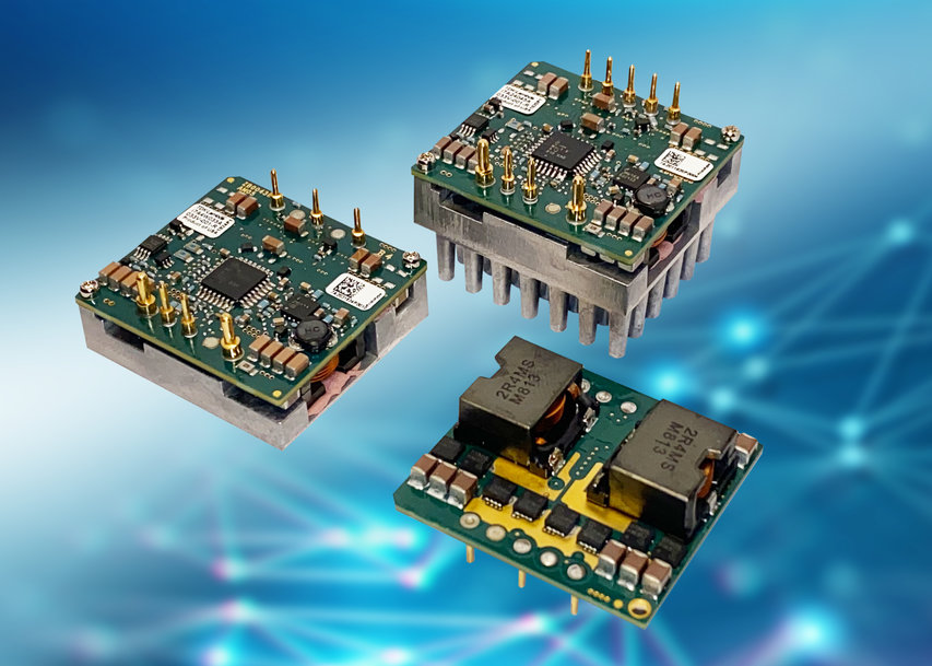 24V input DC-DC step-down (buck) converters deliver 750W in a 1/16th brick footprint